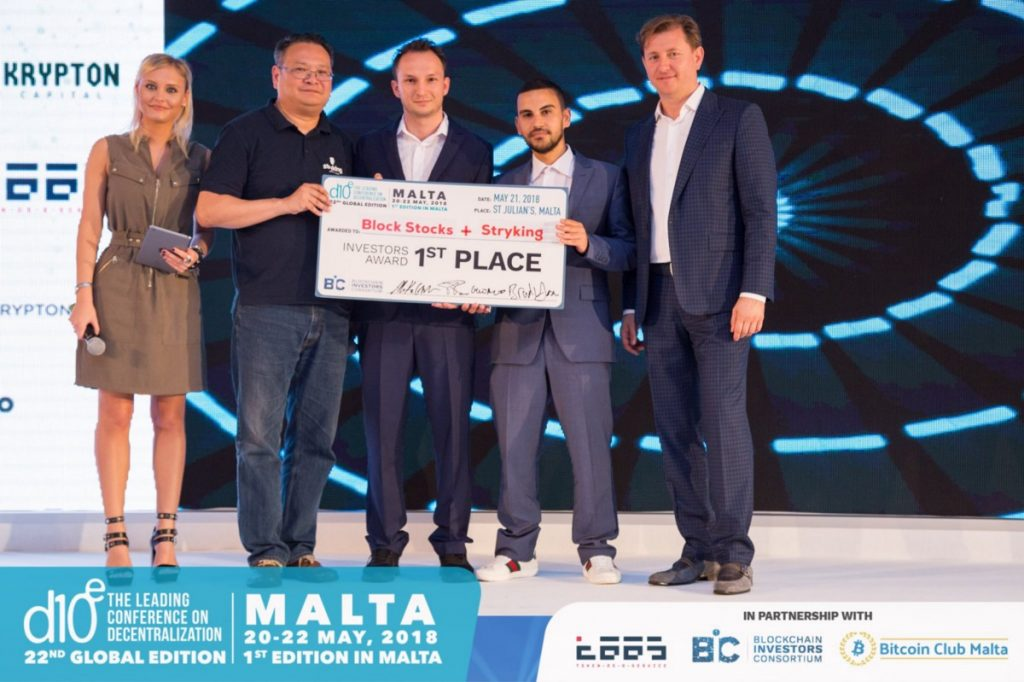 Block Stocks Wins d10e Competition in Malta